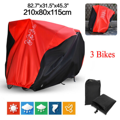 Large Size Waterproof Bicycle Mountain Bike Cover Outdoor Protector For 3 Bikes