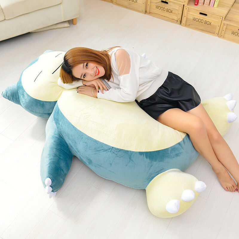 59'_'Giant Snorlax Kabigon Doll Bed Zip Cover Case Xmas Gåvor