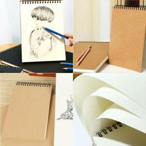 30-Blatt-A5-Papier-Skizzenbuch-Set-fuer-Aquarellzeichnung-Kunst-Skizzenbuch-Nett