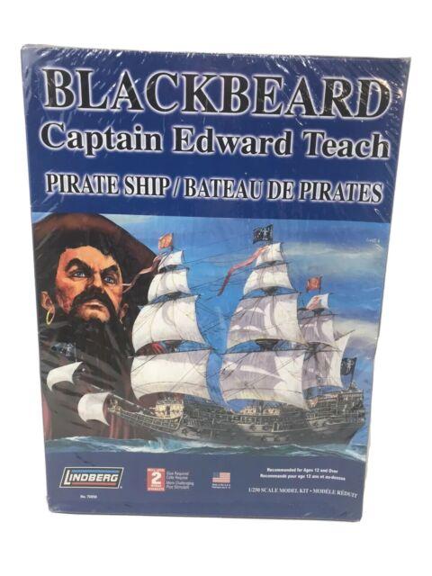 LINDBERG Blackbeard Pirate Ship Model Kit 70858 SCALE 1/250 NEW SEALED