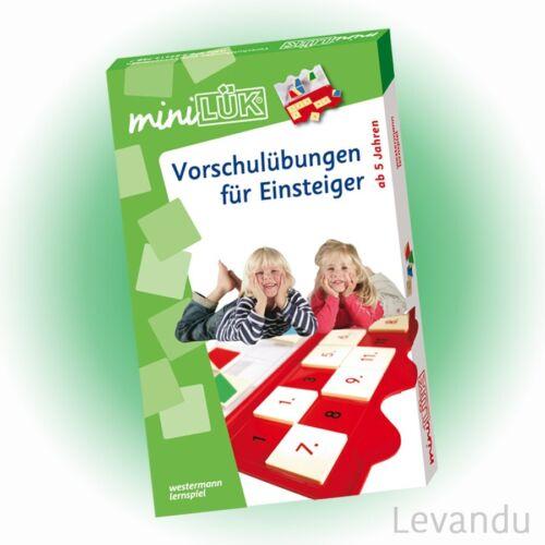 WESTERMANN mini LÜK Set Vorschulübungen für Einsteiger 758 - NEU