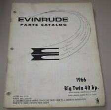 Parts Catalog Evinrude Big Twin 40 HP Ersatzteilkatalog ET Katalog Stand 1966!