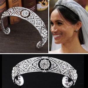 Rhinestone-Crystal-Meghan-Wedding-Crown-Queen-Mary-Bandeau-Tiara-DD