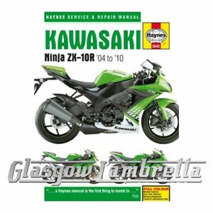 haynes service repair manual 5542 kawasaki ninja zx 10r 2004 rh ebay co uk 2010 ZX10R Black 2009 Zx10r