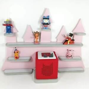 Details zu Kinderzimmer Regal, Regal für die Tonie Box und Figuren ,  Schloss rosa
