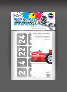 decal scale 1:20 Stencil Alfa romeo tipo 159 basic kit MFH code 000061