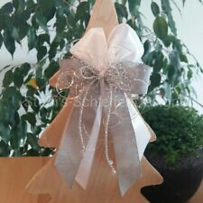 10 Weihnachtsschleifen Christbaumschmuck Weihnachten Schleifen silber weiß