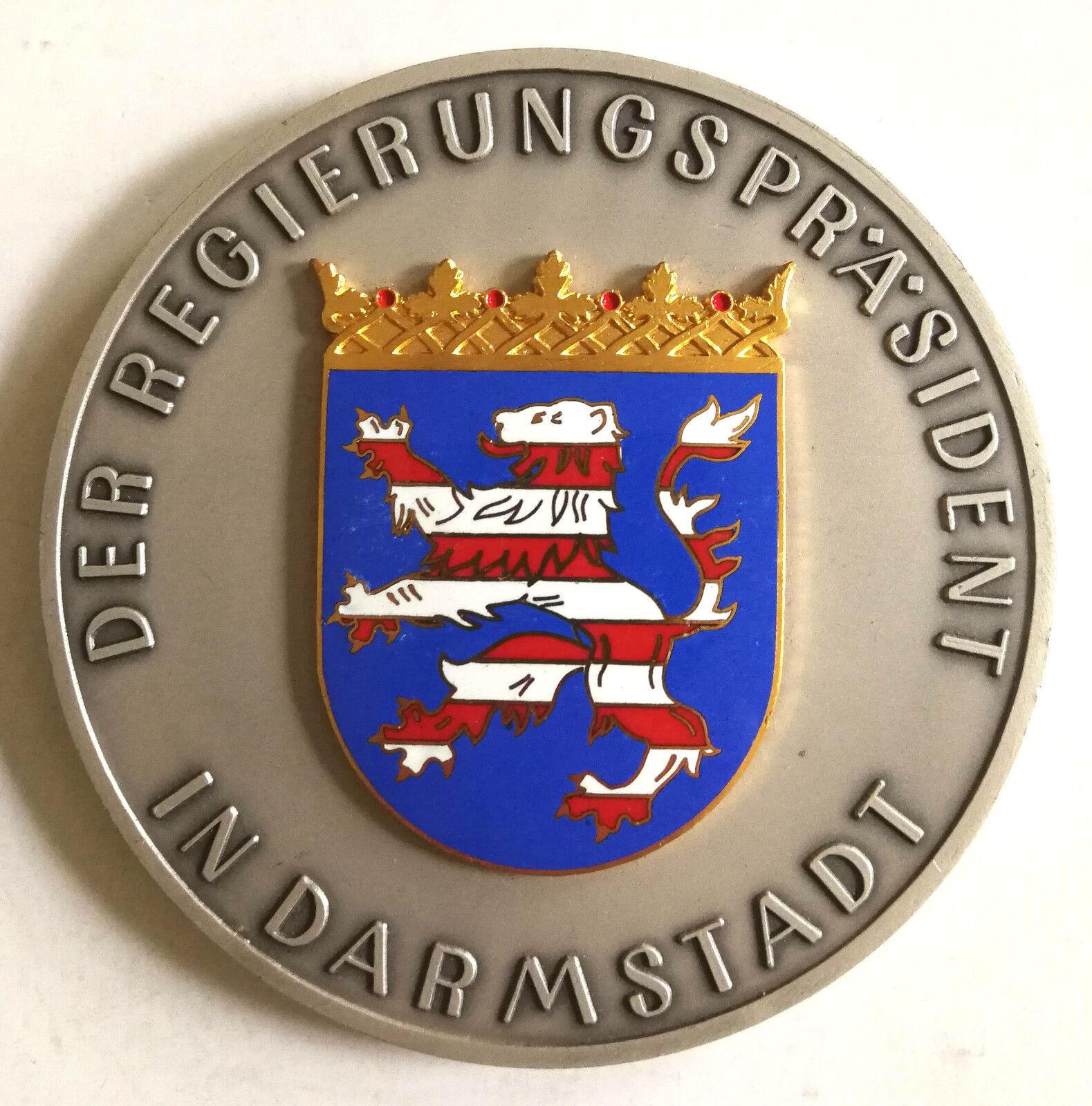 Medaille Regierungspräsident Darmstadt Sport Leistungen schwer massiv Sammler     | Qualifizierte Herstellung