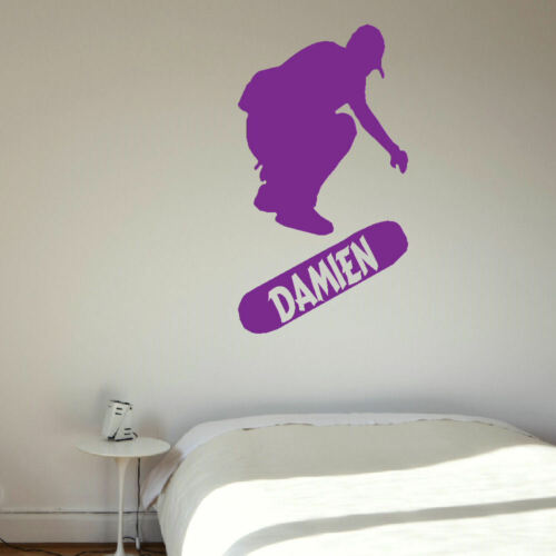 Grande chambre personnalisé Skateboard Enfants Wall Sticker autocollant transfert