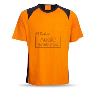 5 X HI VIS UNISEX SOFT FEEL COMBED COTTON SAFETY DAY T-SHIRTS TEE SHIRTS XS-5XL