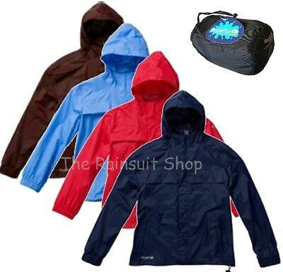 Kid/'s Regatta /'Rainpak/' Blue Waterproof Packaway Jacket.