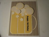 Stampin Up Card Beer / Rootbeer Birthday Card Kit - 1 Assembled 3 To Make