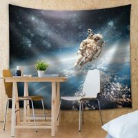 Wall26 - Astronaut Floating In Space Above Earth - Fabric Tapestry - 88x104