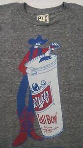 Palmer Cash Mens T-shirt S Schlitz Tall Boy Beer Can ...