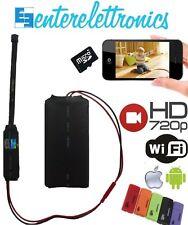MICROSPIA TELECAMERA HD WIFI IP P2P SPY CAMERA DETECTION CON MICROSD 8G INCLUSA