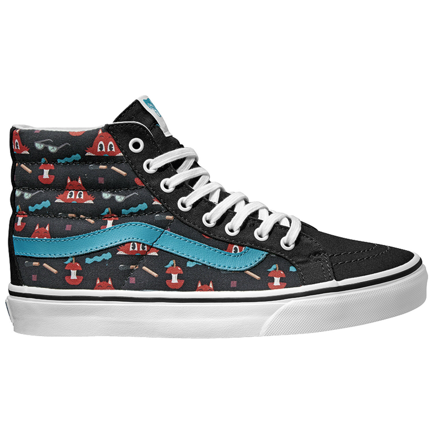 VANS Sk8 Hi Slim (Dabs Myla) Multi/Black Skate Shoes WOMEN'S 9