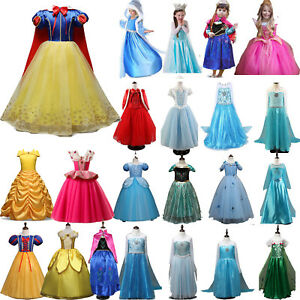Kids-Belle-Elsa-Anna-Cosplay-Costume-Dress-Girls-Princess-Fairytale-Fancy-Dress