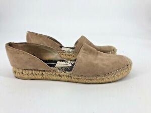 Dolce-Vita-Espadrille-Flats-Beige-Leather-Suede-Size-8-5-Sandals-Shoes-i3