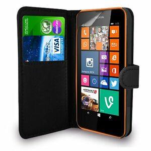 newest collection f84e3 ff787 Details about NEW Premium Leather Book Wallet Flip Case Cover NOKIA LUMIA  730/735