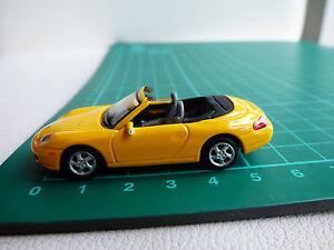 Cararama-dettagliato-di-1-72-MINI-PORSCHE-911-Cabrio-Giallo-Diecast-Auto-Giocattolo-00-Gauge