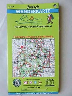Fritsch Wanderkarte Nr 68,Die Rhön-Naturpark & Biospärenreservat, NEUWERTIG,15.A