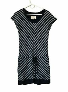 Rag-amp-Bone-Women-039-s-Dress-Striped-Short-Sleeve-Black-Gray-Sz-XS