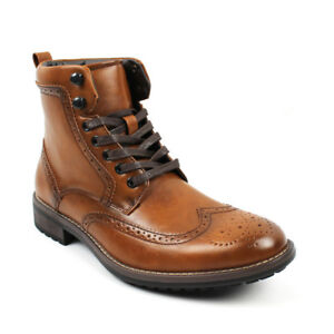 341ec771b1c Details about Men's Ankle Dress Boots Wing Tip Lace Up Leather Luciano  Santino Shoes B742