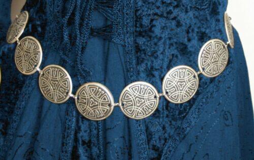 Gothic Medioevo morbide vichinghi Celti Cintura Cintura catene in metallo 36 - 48