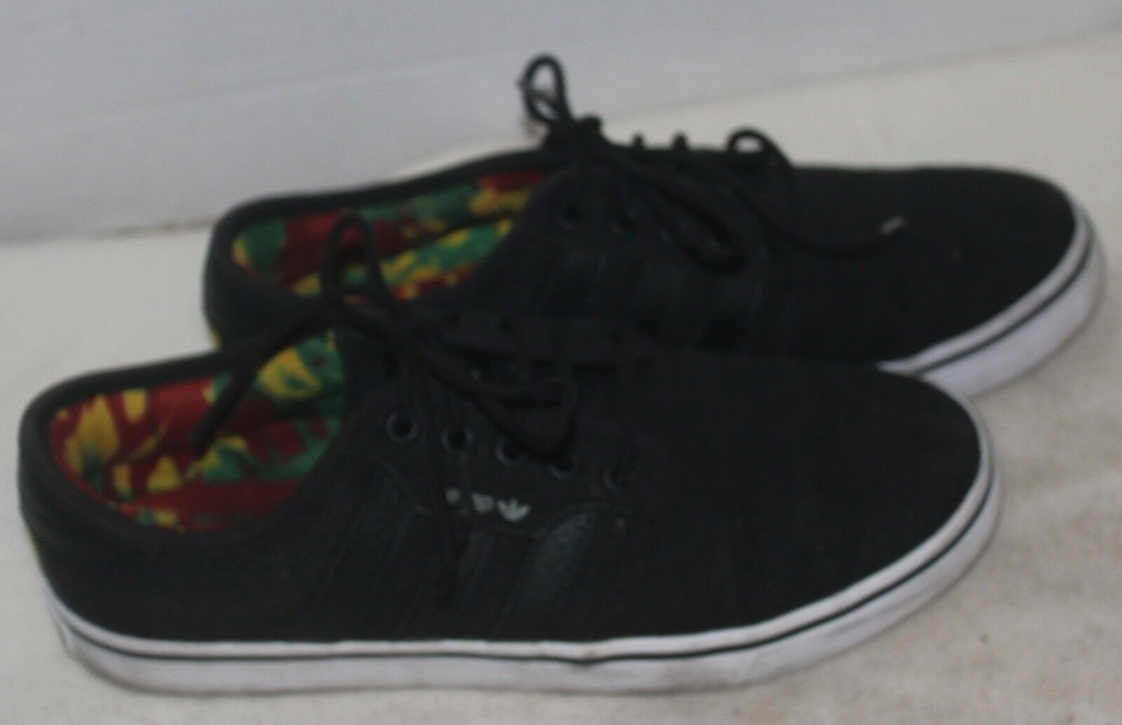 ADIDAS men's athletic shoes sneakers black HEMP SIZE 7 VERY NICE!!