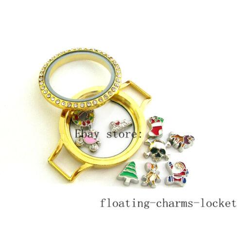 10 Twist Threaded Screw Top Glass Wrist Lockets Mix CLR Leather Wraps Bracelets