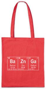 Ba-Zn-Ga-Stofftasche-Einkaufstasche-Chemist-Chemistry-Lehrer-Fun-Nerd-Geek