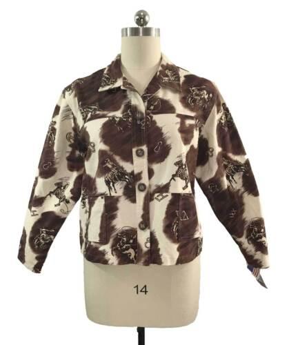 Wmns Cirkel Usa Western Alle Vtg T Xl Cowboys Roughrider Heste Nwt Jacket Cotton wHqFAHv