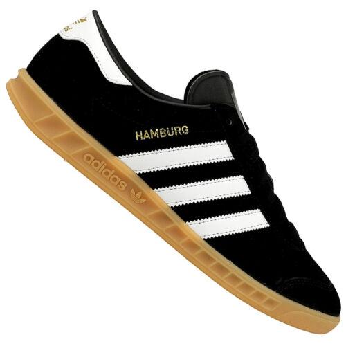 cuero de Hamburg de en Zapatillas para hombre negro blanco Adidas deporte y piel Originals ZqdtwYEx