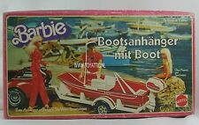Barbie boot trailer going fishing German / European version 1979 NRFB Very Rare!