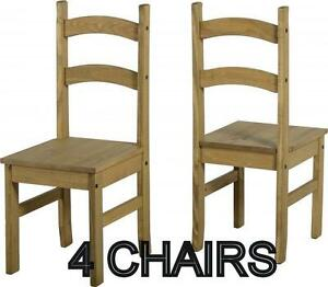 Image Is Loading 4 Corona Mexican Dining Chairs Pine Budget Solid