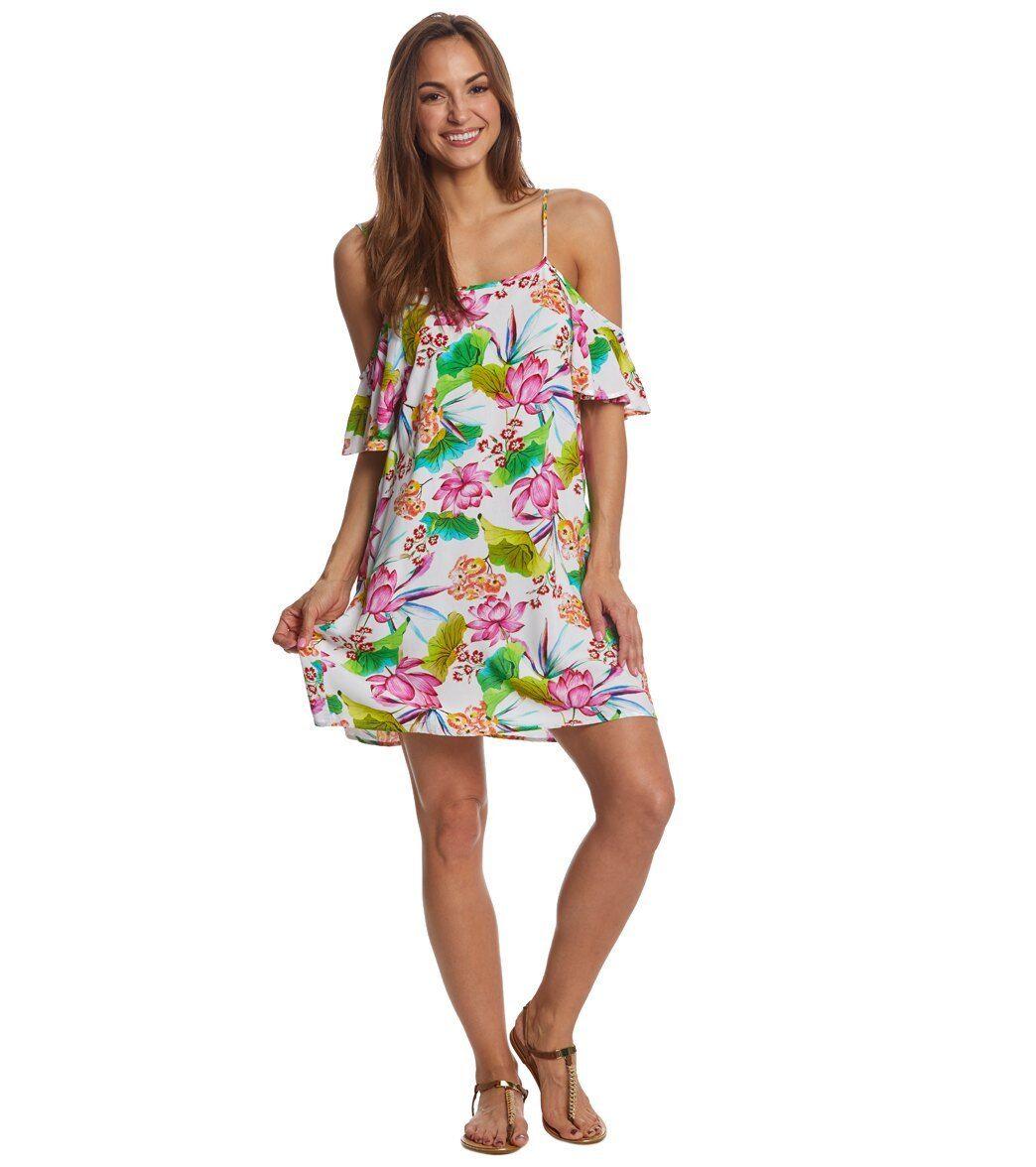 NEW La whitea Bora Bora Cold Shoulder  Dress  Cover  up  Size L