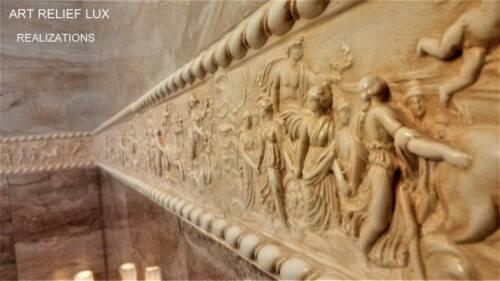 Relief Nymphen Stuck gips Groß Wandrelief Skulptur Greek