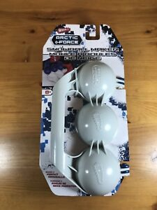 Wham-O Arctic Force Snowball Maker 3 Mold Tool Toy New In Package Blue White