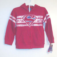 Superman Toddler Boys Front Zip Hoodie Jacket Size 3t Or 4t Or 5t