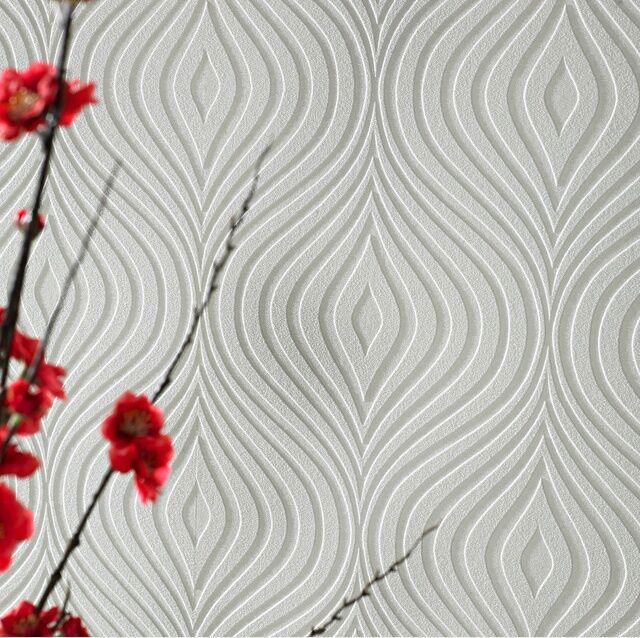 Graham & Brown white paintable wallpaper (Curvy Design) A4 SAMPLE