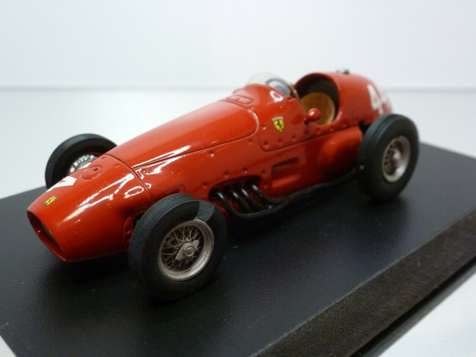 K&R REPLICAS FERRARI 625 1955  44 - F1 rosso 1 43 - VERY GOOD CONDITION on BASE