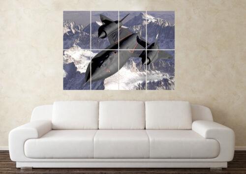 Large Lockheed Sr-21 Blackbird RAF Fighter Plane Army Poster Art Picture Print