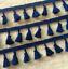 Navy-Blue-4cm-Trim-Tassel-Fringe-Cotton-Lace-Ribbon-Price-per-30cm-DIY-Craft thumbnail 1