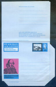 Great Britain 1964 Shakespeare air letter overprinted cancelled (2020/09/12#04)