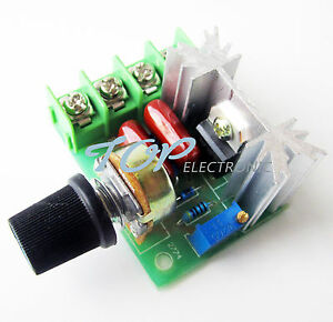 220V 2000W Speed Controller SCR Voltage Regulator Dimming Dimmers Thermostat 712641515804
