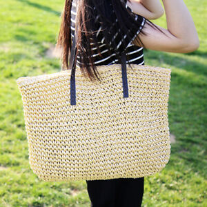 Women-Straw-Rattan-Bag-Woven-Handbags-Shoulder-Knitted-Purse-Beach-Storage-Bag