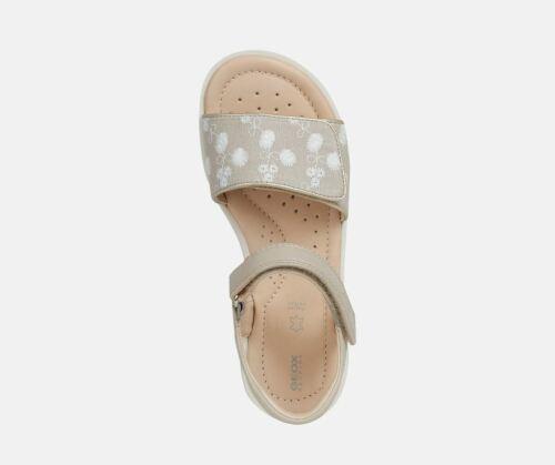 Geox sandali da bambina ragazza con strappo in pelle per bimba beige Coralie