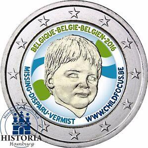 Belgien 2 Euro Münze Child Focus 2016 Stempelglanz Gedenkmünze In