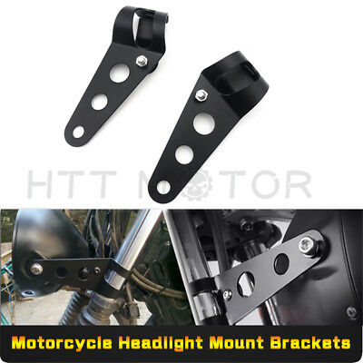 HTT Fork Clamp Headlight Mounting Brackets For Motorcycles With 28mm-38mm Tubes