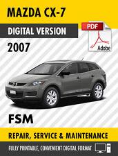 mazda cx 7 grand touring 2010 2012 service repair oem factory manual rh ebay com 2007 mazda cx 7 workshop manual 2007 mazda cx 7 repair manual free